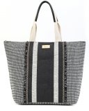 Černá textilní plážová taška