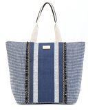 Modrá textilní plážová taška